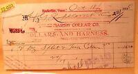 1935 MARSH COLLAR COMPANY & HARNESS Bill Head