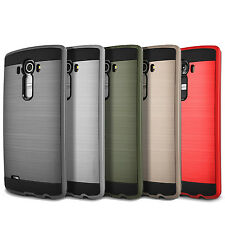 Slim Tough Armour Brushed Dual Layer Protect Cover Case for LG G3 G4 G5 G6