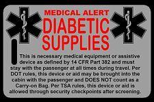 Lo-Viz Gray Carry-On Diabetic Supplies  Bag Tag - TSA - CPAP BiPAP APNEA POC