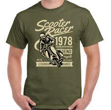 Scooter T-Shirt Racer Mens Funny MOD Lambretta Vespa Paul Weller Bike Logo Top