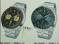 HANDS for SEIKO Bullhead Chronograph 6138-0040 6138-0049 Hour Minute Second