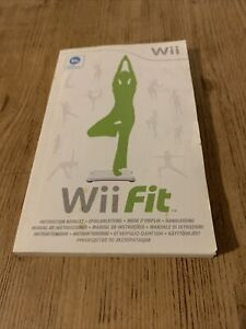 Nintendo Wii Fit and Balance Board Instructions Booklet