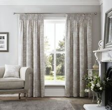 """Curtina curtains Headingham Pencil Pleat 6"""" header in Natural, Size: 66x54"""""""