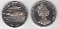 ISLE OF MAN RARE 1 CROWN PROOF COIN 1995 YEAR KM#439.2 BMW FOCKE-WULF Fw-190