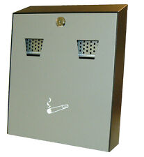 Powder Coated Cigarette Bin Wall Mounted Lockable Ash Bin Bar Pub