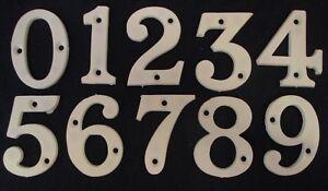 NEW - Any 2 White Plastic Numbers for front door, caravan, wheelie bins, gates