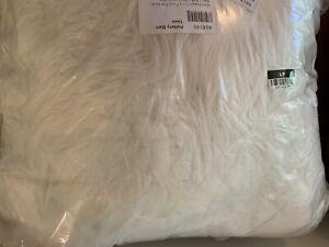 Pottery Barn Teen Himalayan faux fur bean bag cover Large Ivory furlicious