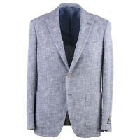 Belvest Soft-Constructed Blue and White Melange Cotton-Silk Sport Coat 40R