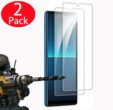 """For Sony Xperia L4, 6.2"""" Clear 9H Tempered Glass Screen Guard Protector (2 Pack)"""