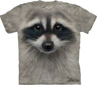Big Face Raccoon Head T-Shirt by The Mountain Company. Sizes S-5XL NEW