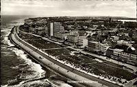 Insel Norderney s/w AK ~1950/60 Blick auf den Strand Cekade Luftbild ungelaufen