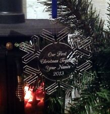 Personalised snowflake Christmas Tree Decoration First Christmas Gift Bauble
