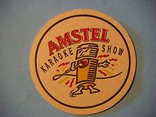 Beer Brewery Coaster ~*~ AMSTEL Bier ~ Amsterdam, The NETHERLANDS ~ Karaoke Show