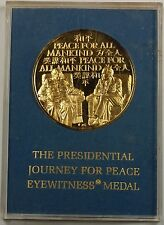 1972 Franklin Mint Gold 24kt plated Sterling The Presidential Journey for Peace