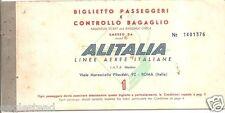 Airline Ticket - Alitalia - 1 Flight - 1962 (T122)