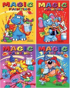 24 X per Bambini A5 Magic Pittura Colorare IN Libri - Sacchetto Festa Calza