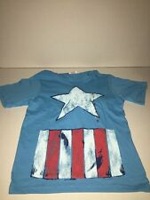 Brand New- Marvel Comics Captain America Shirt With Hoodie (Boys Size 7)