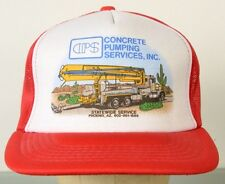 CPS Concrete Pumping Services Inc Red Mesh Trucker Baseball Cap Hat Adjustable
