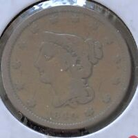 1840 Braided Hair Large Cent 1c Mid Grade  #6145