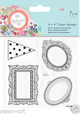 Docrafts Papermania Bellissima 5 clear stamp set Mini Picture Frame stamps