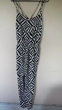 BNWT LADIES SIZE 14 STUNNING BLACK & WHITE PRINT JUMP SUIT BY DEBENHAMS