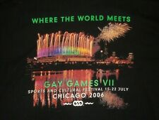 2006 CHICAGO GAY GAMES COMMEMORATIVE T SHIRT  XL
