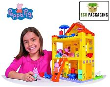 New PlayBig Peppa Pig Peppa's House Construction Building Block Playset Toy 18m+