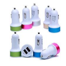 WHOLESALE LOT of 50 DUAL Car Charger DOUBLE USB PORT for iPhone Samsung UNIVERSA