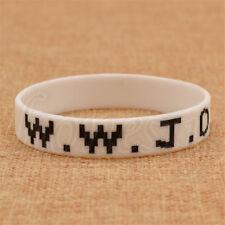 1/2/5PCS WWJD What Would Jesus Do Wristband Women Men Silicone Rubber Bracelet
