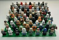 Lego lot of 4 Random Star Wars Minifigures Clones Stormtroopers Jedi Rebels RARE