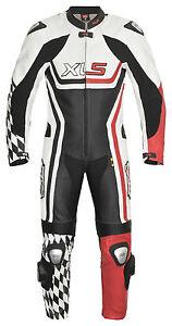 Lederkombi Racing Einteiler EOS von XLS schwarz rot einteilig Gr. 48 bis 58