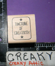 TINCTURE OF CREATIVITY TAG RUBBER STAMP STAMPERS ANONYMOUS HOLTZ D1-1708