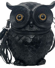 3D Owl Travel Bag Leather Messenger Backpack Handbag Originality Shoulder Bag