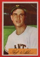 1954 Bowman #57 Hoyt Wilhelm VG-VGEX+ CREASE HOF New York Giants FREE SHIPPING