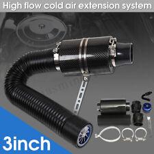"""Universal 3"""" Sportluftfilter Carbon Dynamic Airbox Luftfilter Satz"""