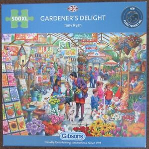 Gibsons 500 Extra Large Pieces Jigsaw Gardener's Delight by Tony Ryan 500XL