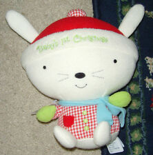 "7"" Baby's First Christmas Hallmark NEW NWT stuffed animal bunny rabbit toy"
