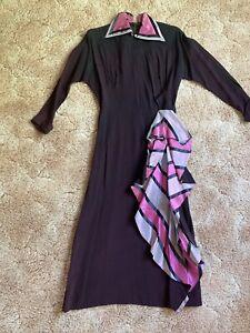vintage 1940s rayon dress