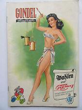 Vintage PinUp - Gondel Magazin 3/1951 Top Zustand, Inhalt siehe Foto