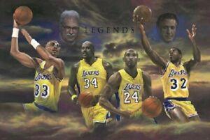 LA Lakers Legends Tribute 24 X 36 Poster New, Color, MINT