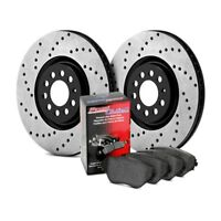 For BMW M3 2001-2006 StopTech 939.34005 Street Drilled Front Brake Kit