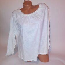 Joe Boxer Juniors Blouse XL Ivory Long Sleeve T Shirt 100% Cotton