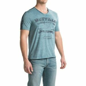 Buffalo David Bitton 'Nielsen' Burnout T-Shirt V Neck- Short Sleeve (For Men)