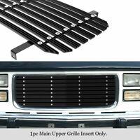 APS Compatible with 1994-1999 Chevy Blazer C K Pickup Suburban Tahoe Phantom Style Main Upper Stainless Steel Black 8x6 Horizontal Billet Grille Insert C85211J