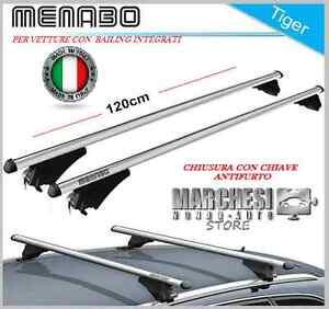 BARRE PORTATUTTO SEAT LEON III ST 2012-> RAILS INTEGRATI ALLUMINIO CHIAVE