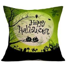 Halloween Pillow Case Sofa Waist Throw Cushion Cover Home Decoration
