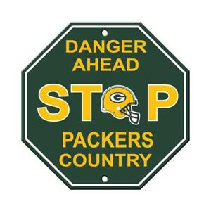 """Green Bay Packers 12""""x12"""" Plastic Stop Sign [NEW] NFL Wall Banner Avenue Fan"""