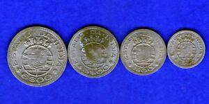 PORTUGUESE INDIA-GOA-1959-FULL SET OF NICKEL COINS-RAREST BEAUTIFUL COINS