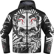 ICON MERC VITRIOL Textile Motorcycle Jacket (Black/White) L (Large)