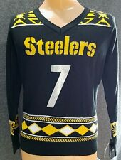 NFL Pittsburgh Steelers Player Portrait Ugly Sweater Ben Roethlisberger Large